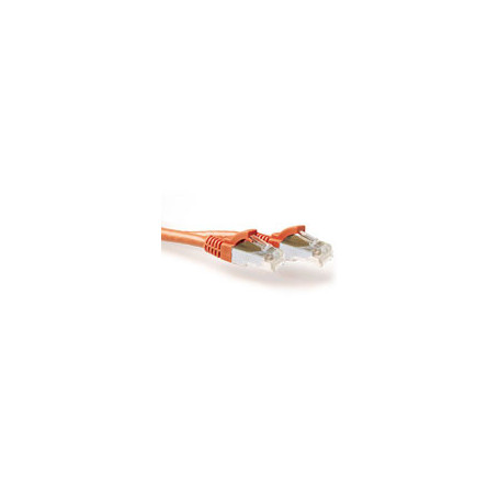 ACT Orange 1.00 meter SFTP CAT6A patch cable snagless with RJ45 connectors - FB2101 2,63€