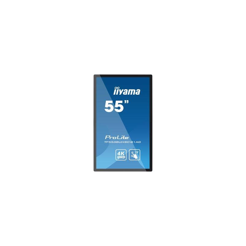 """Pantalla Táctil Interactiva de 55"""" Iiyama TF5538UHSC para Cartelería Digital 2.508,76€"""