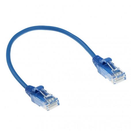 CABLE DE RED ETHERNET CAT6 0.5 METROS U/UTP RJ45 Azul
