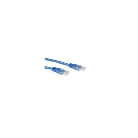 CABLE DE RED ETHERNET CAT5E 1.5 METROS U/UTP RJ45 Azul