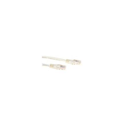 CABLE DE RED ETHERNET CAT5E 0.25 METROS U/UTP RJ45 Marfil
