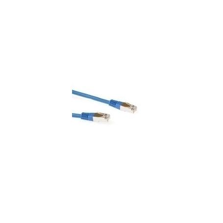 CABLE DE RED ETHERNET CAT5E 1.5 METROS F/UTP RJ45 Azul