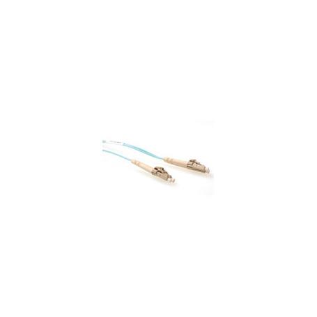 Cable de Fibra Óptica Multimodo 50/125 OM3 duplex LSZH con conectores LC  20,00 m