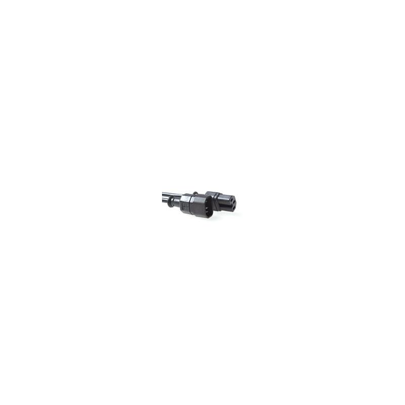 Cable alimentación C14 a C15 Negro 2.00 m 3,72€