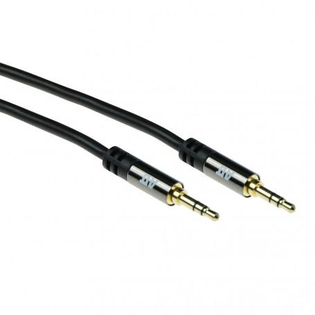 ACT Cable de conexión de Audio HQ jack estéreo 3,5mm macho - macho 2m - AK6240