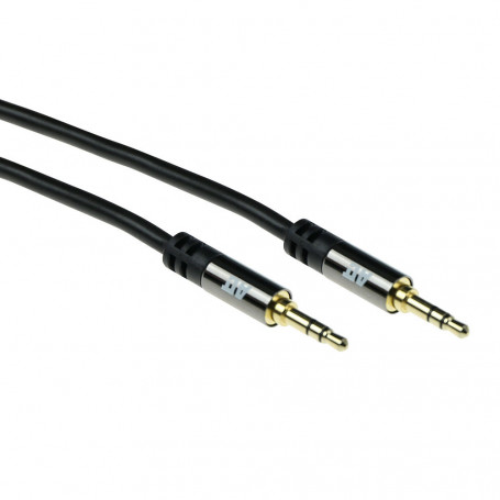 ACT Cable de conexión de Audio HQ jack estéreo 3,5mm macho - macho 5m - AK6244