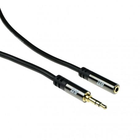 ACT Cable de extensión de Audio HQ Jack estéreo macho - hembra 3m - AK6252