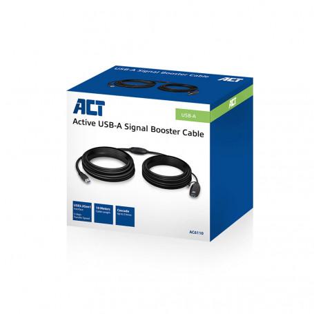 Extensor USB 3.0 Booster ACT AC6110 de 10 metros 36,45€