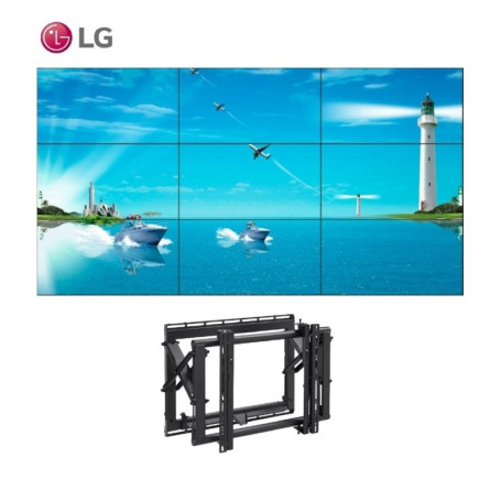 """Video Wall 3x3 LG 49"""" con Soportes eyectables 15.960,15€ product_reduction_percent"""