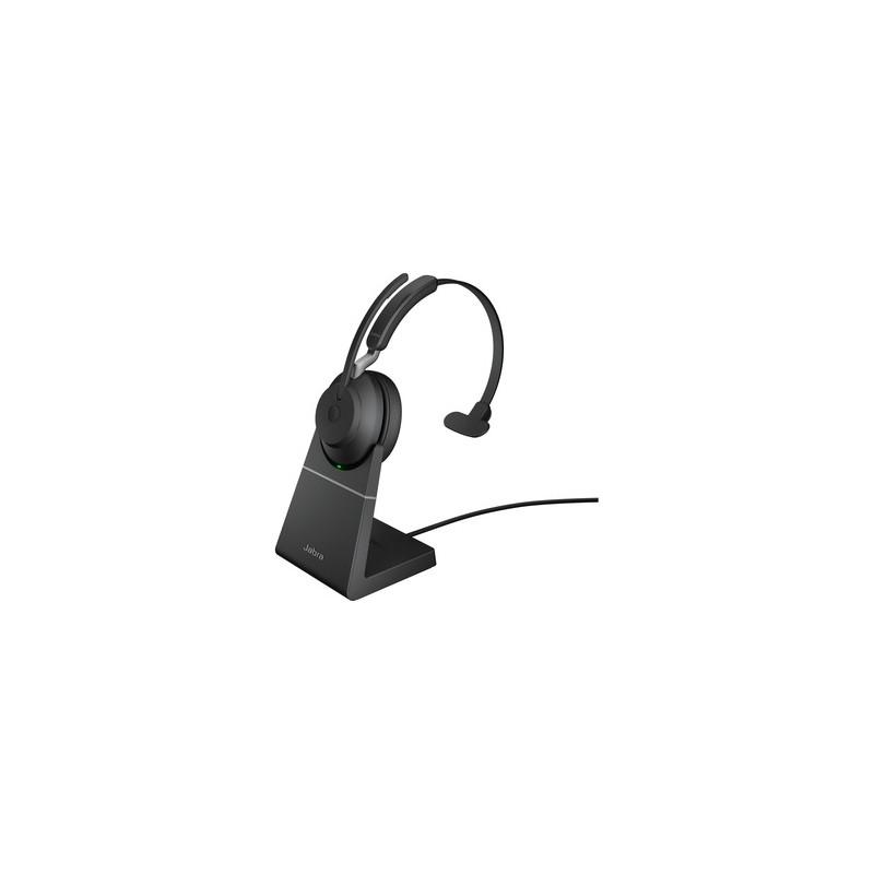 Jabra Evolve2 65 UC Mono con Base Cargadora y Receptor Bluetooth 165,00€