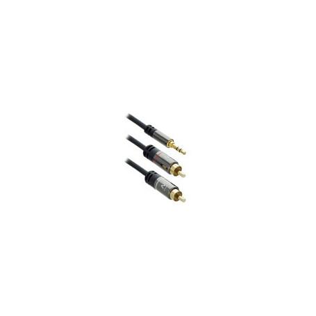 Ewent Cable de conexión de Audio HQ 1x Jack estéreo macho - 2x RCA macho 1.5m - EW9237